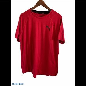 Puma red short sleeve top size large